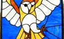 Barn Owl suncatcher, 45cm x 42cm