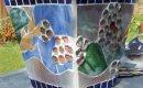 Glass mosaic flower pot.