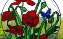Field poppies sun catcher