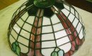 Tiffany stained glass lamp.