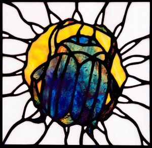 Scarab Stained Glass logo