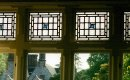 Set of traditional leaded window panels.
