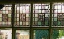 Traditional leaded window design.