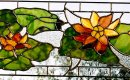 Water lilies transom. 0.8m wide x 0.4m high.