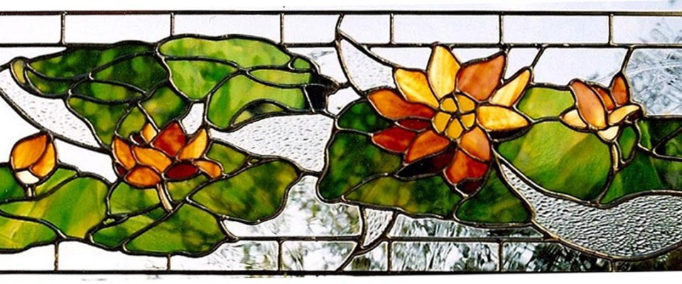 Water Lilies Transom