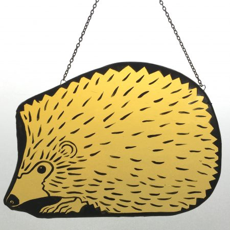 Stained glass hedgehog sun catcher