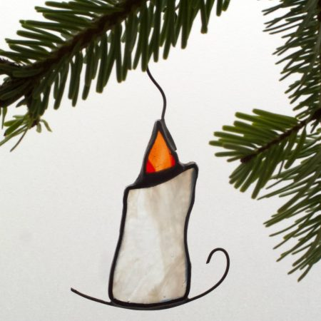 Stained glass Christmas candle