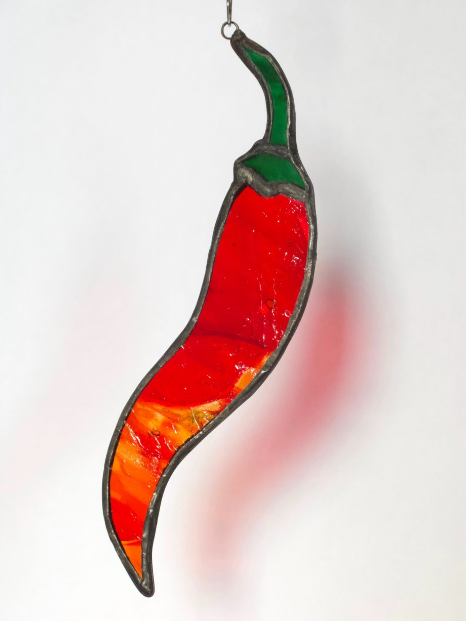 Stained glass red chilli