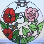 Poppy & Rose sun catcher