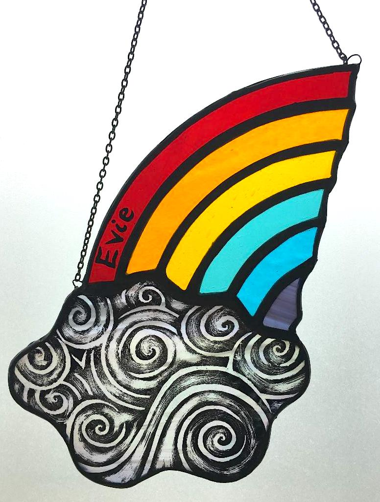 Evie stained glass sun catcher