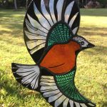 Stained glass jay sun catcher