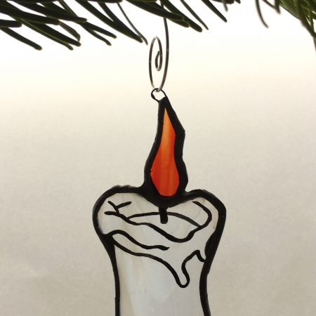Stained glass Christmas candle tree decoration