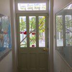 Rowan tree stained glass front door panel